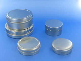 Round slip lid tins