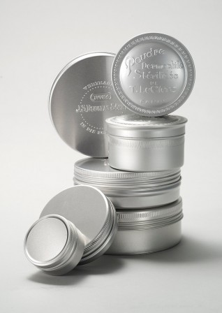 Round screw lid tins