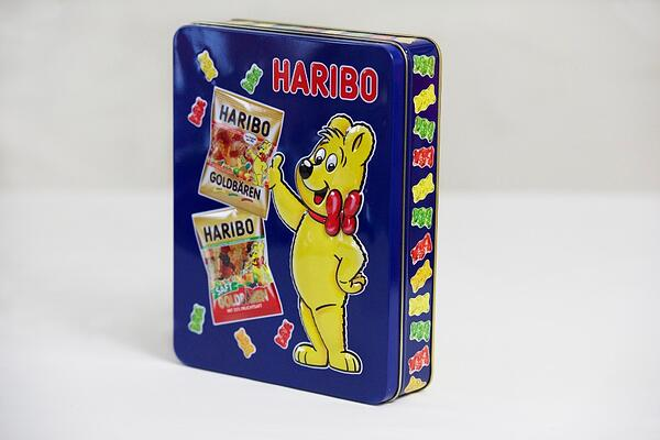Famous Haribo Bear - the Haribo tins create collectables for many years